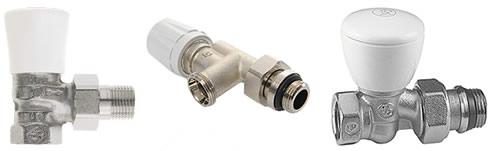 Giacomini chrome rad valves hydronic heating